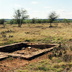 Fort Griffin (Peter Gutierrez) Tags: photo united states us usa america american west western south southern southwest southwestern texas texan tx tejas shackelford county fort griffin mackenzie trail frontier cavalry army post 1800s 1800's 1860s 1860's stone buildings chimneys foundations ruin ruins abandoned desert scrub trees cactus bushes peter gutierrez petergutierrez film americana photograph photography