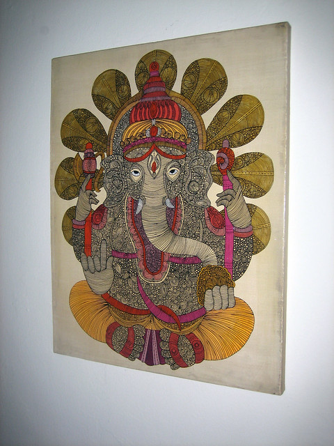 Ganesh Painting on canvas