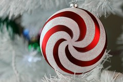 Christmas Ornament (Jaime Carter) Tags: christmas decorations red newzealand white colour tree spiral christmastree ornament ornaments 2010 cmwd cmwdred jaimewalsh jaimecarter