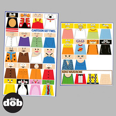 Custom LEGO Various Cartoon Decal Sticker Set. (dibdobdesign) Tags: park family pink guy sticker sylvester lego mask south ken barbie simpsons sonic figure decal minifig custom tweety kenny panther garfield decals minifigure flinstones