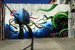 Jeff Soto and Maxx242 at Primary Flight 2010 - Art Basel, Miami (JeremiahGarcia) Tags: streetart art graffiti mural miami jeffsoto 2010 artbasel wynwood maxx242 primaryflight photobyjeremiahgarcia