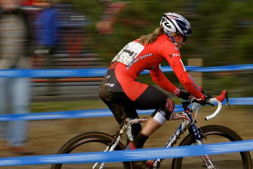 Katie Compton leading