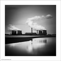 Fiddlers Ferry Power Station (Ian Bramham) Tags: light bw station river nikon power smoke steam coal mersey fired runcorn widnes fiddlersferry 70300vr d700 ianbramham