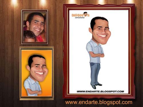 moldura para caricatura - Ricardo