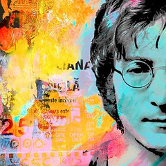 Lennon #124 (Eden Fine Art Gallery, Mamilla , Jerusalem) Tags: art fineart digitalart canvas beatles lennon jerusalemartgallery dganitblechner edenmamilla