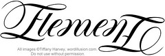 """Element"" Ambigram"