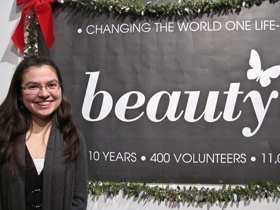 Julia Pon, one of 400 Beauty Night volunteers