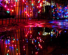 Mine is the night.......... (LaTur) Tags: christmas reflection washingtondc dc contemporaryart romance georgetown dcist romantic nightfall kartpostal we3dc welovedc