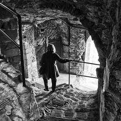 Alley (klausthebest) Tags: light woman france blackwhite alley bravo upstairs francia luceram dragondaggerphoto