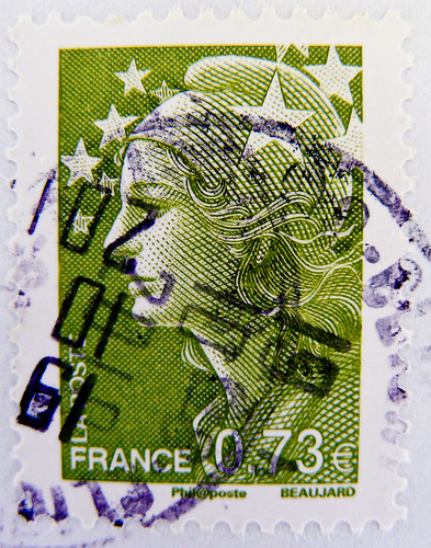 stamps France 0.73 € 73c postage french Marianne et l