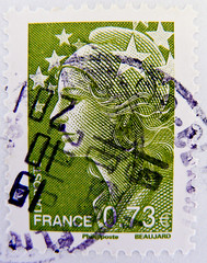 stamps France 0.73  73c postage french Marianne et l'Europe (Carla Bruni ?) 0,73 La Poste Beaujard timbre Briefmarke Frankreich Republique Francaise RF franco bollo sellos France sello selo marka (thx for sending stamps :) stampolina) Tags: ladies portrait woman france verde green lady postes stars french women frankreich francaise stamps retrato vert stamp porto donne marianne grn frau portret timbre mujeres  postage franco rf  carlabruni frauen selo marka  yeil sellos     pulu zld verts  briefmarke  francobollo timbres portr timbreposte bollo     timbresposte    starsofeurope   carlabrunisarkozy  beaujard francepostage  postapulu yupiofgu marka jyu  mariannebeaujard yupiouzhu