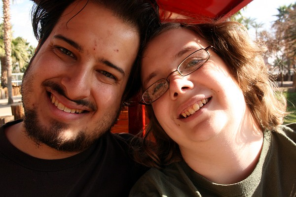 Us on the train at the Wildlife World Zoo