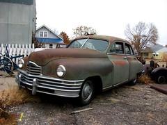 1948 Packard Eight (dave_7) Tags: classic 1948 car rust ks rusty 8 eight packard cawkercity kanasis