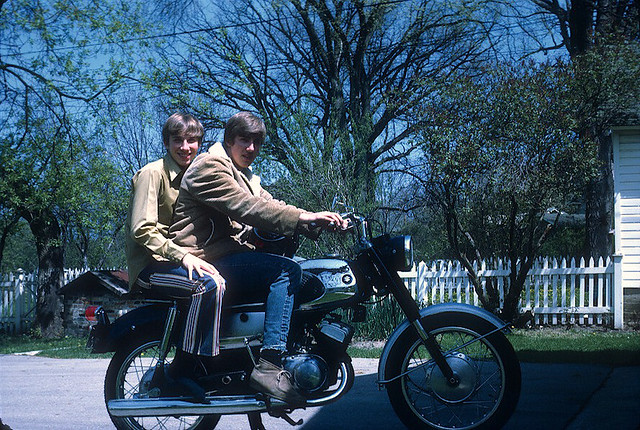 Mike and I on the Suzuki