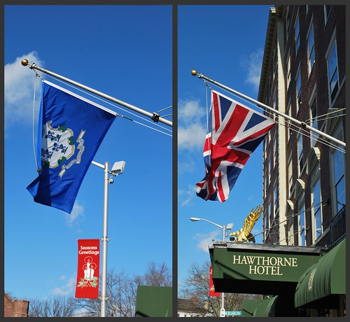 Flags of the Day at the Hawthorne Hotel