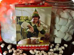 Buddy The Elf (eklektick) Tags: movie candy elf card marshmallows syrup cottonballs hallmark candycanes buddytheelf candycorns countdowntochristmas2010 christmascountdown2010