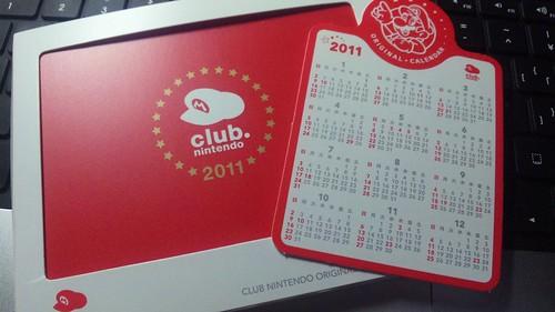 Club Nintendo Calendar 2011 2
