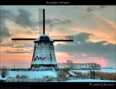 Bovenmolen E @ Sunset (Peterbijkerk.eu Photography) Tags: winter sunset snow ice zonsondergang sneeuw nederland windmills molen hdri noordholland windmolen nld schermerhorn peterbijkerkeu winter20102011 20101220