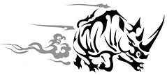 RINO (Black Crown . tribal) Tags: white black art dark design tribal tatoo rino
