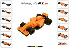 Mahjqa's F1 2G (ZetoVince) Tags: orange car greek lego vince f1 racing tiny formula vehicle instructions blackrims turbos zeto mahjqa zetovince dreamdealer