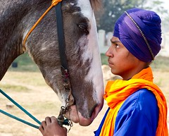 Friends for Life (gurbir singh brar) Tags: horse friendship culture xbox communication gaming trust sikhs turban sikh punjab bonding association interaction 2010 wii jaanbhai  gurbirsinghbrar      ranjodhsingh horseandsingh youthandhishorse