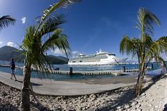 Jewel of the Seas (blueheronco) Tags: cruise haiti dock ship labadee fisheyelense jeweloftheseas royalcaribbeancruises