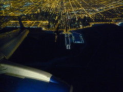 Descending over Chicago