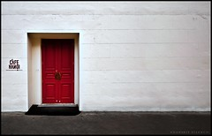 The Red Door [010/365] (Danskie.Dijamco.Photography) Tags: street door red white project restaurant nikon perspective reddoor 365 hanoi whitewall project365 365days 365daysproject nikond700 365dps nikonafs1635mmf4