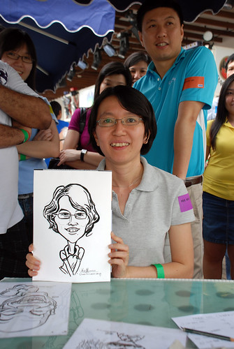Caricature live sketching for VISA Beach Party 2010 -5