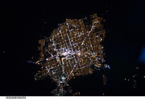Las Vegas, Nevada at Night (NASA, International Space Station, 11/30/10)