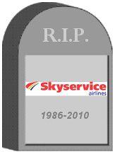 Skyservice Tombstone