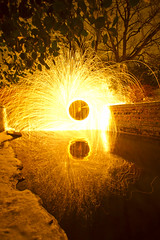 Hall grounds culvert (- Hob -) Tags: lightpainting culvert wallsend steelwool wirewool lightjunkies hallgrounds woolspin