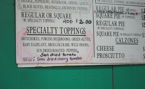 Specialty Pizza Toppings at Di Fara