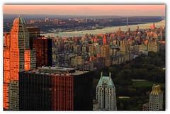 New York City facing Central Park (vikkiq) Tags: nyc newyorkcity twilight view centralpark rockefellercenter topoftherock