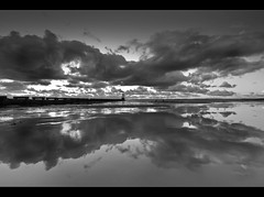 Monotone Mud, Crosby beach. Explored Frontpage (Ianmoran1970) Tags: bw white black reflection beach wet landscape mono sand mud boots monotone explore frontpage crosby muddyboots explored ianmoran ianmoran1970