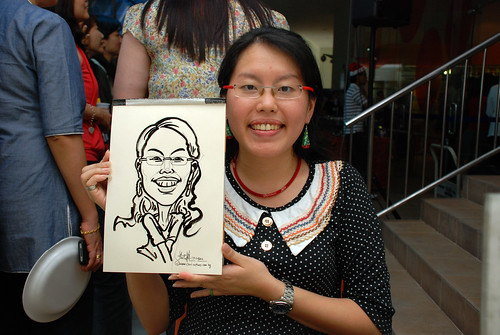 Caricature live sketching for BAT White Christmas Party 2010 - 19