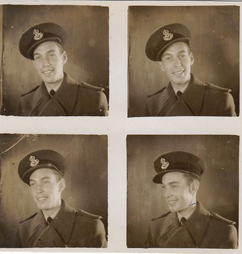 Polyfoto of an unidentified Royal Air Force man. WW2.