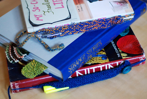 pen tube bookmarks!