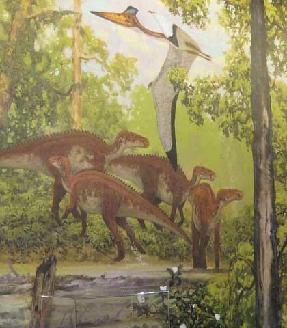 (Not So) Old Paleoart at MOS - Maiasaura mural