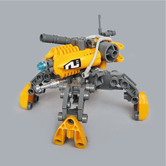 Hayaku v7 - Gunner Type (Fredoichi) Tags: robot lego space military walker mecha mech multiped fredoichi