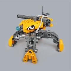 Hayaku v7 - Gunner Type (Fredoichi) Tags: robot lego space military walker mecha mech multiped fredoichi