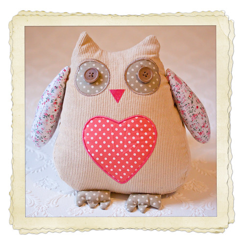 Olive the doorstop - for Owl Friday