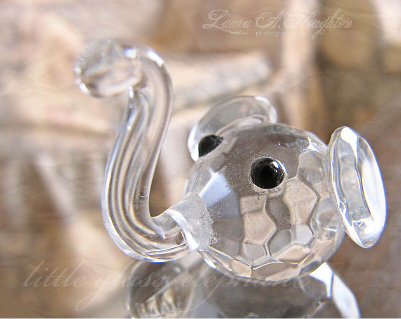 little glass elephant
