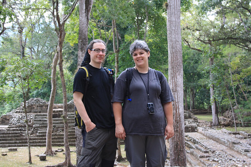 Dachary and Kay at Copan