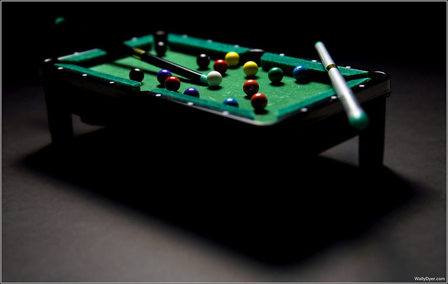 Oh look! A miniature pool table!