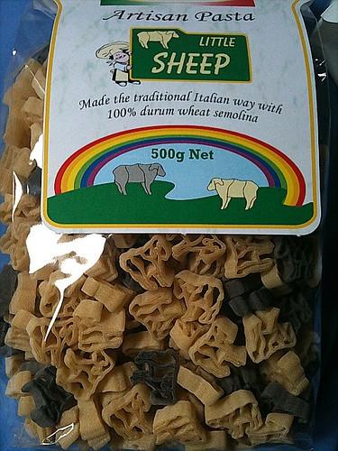 羊型パスタ