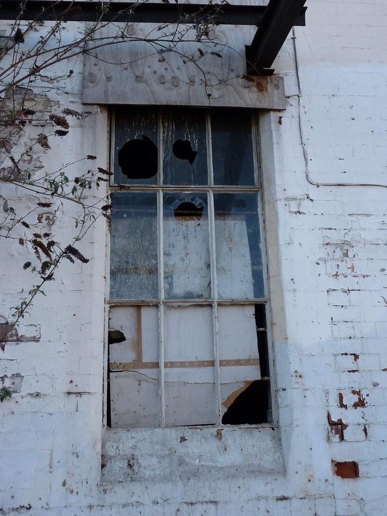 Court Street - broken window