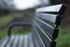 Bench (hobbitbrain) Tags: park bench 50mm prime dof bokeh seat perspective 100v10f depthoffield f17 bokehwhores