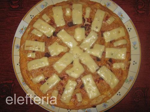 Πίτσα με αυγά