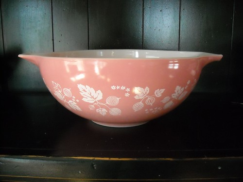 pink pyrex from the thrift store.